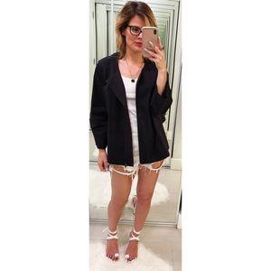 Eileen Fisher Black Zip Front Jacket